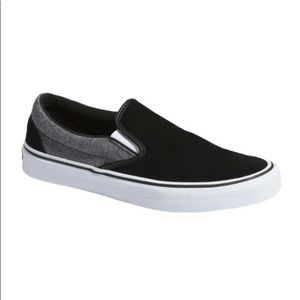 Vans Slip-on suede suiting sneaker shoes black